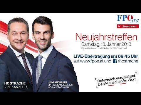 Komplettaufzeichnung: FPÖ Neujahrstreffen 2018