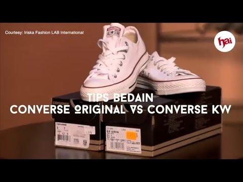 Tips Bedain Converse Original Vs Converse Kw Youtube