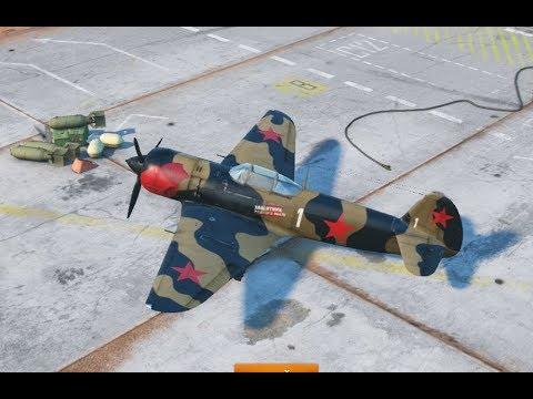Самолет Яковлев Як-7 M-82  в игре World Of Warplanes, первый вылет