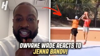 DWYANE WADE REACTS TO @Jenna Bandy Jump Shot!