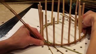 Русская ива - Урок 2. Плетение из ивы. Веревочка в 3 прута.