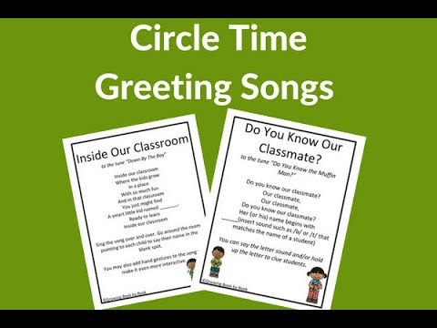 Circle Time Greeting Songs for Preschoolers and Kindergarteners