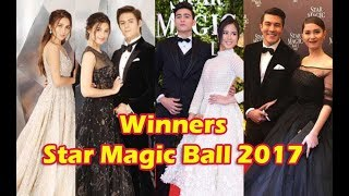 WINNERS at Star Magic Ball 2017 - Kathryn, Julia, LizQuen, KissMarc, Pia, Luis, and Jessy