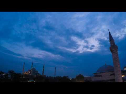 Sunset Timelapse Video over Istanbul, Turkey