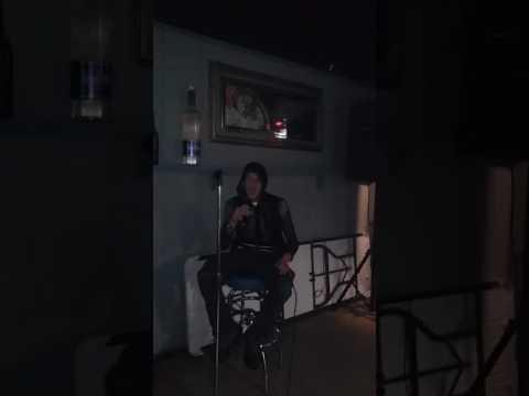 Me singing karaoke at Pix Liquor Store and Cocktail Lounge in Tampa