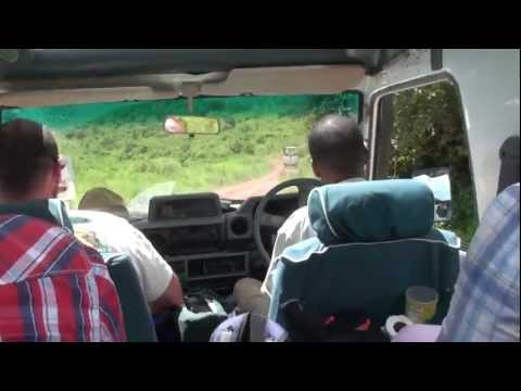 Exiting the Ngorongoro Crater Safari Africa