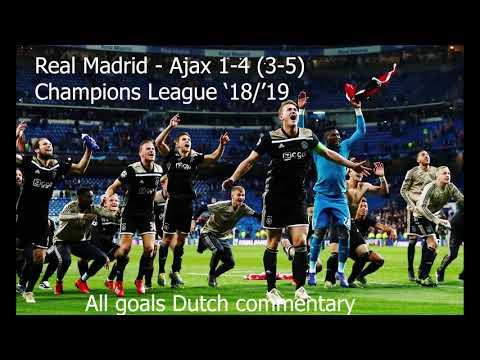 Real Madrid - Ajax 1-4 (3-5 agg.) // All Goals Dutch radio 1 commentary