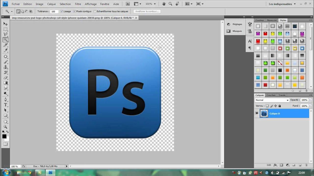 tuto n u00b01 sur photoshop   enlever le contour blanc d u0026 39 une image pour le mettre en transparent