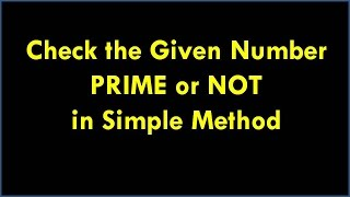 c program for prime number how to check given number is prime or not in c