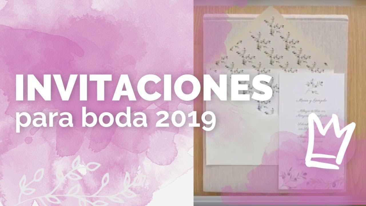 Invitaciones Para Tu Boda Diseños Y Tendencias 2019