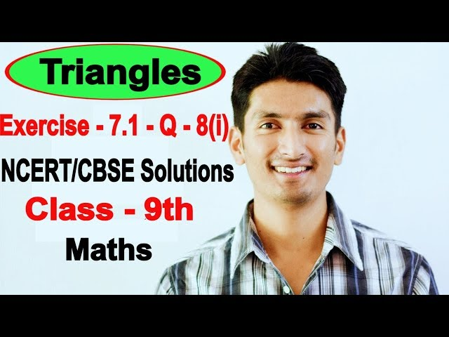 Chapter 7 Exercise 7.1 Question 8(i) - Triangles Class 9 Maths - NCERT Solutions