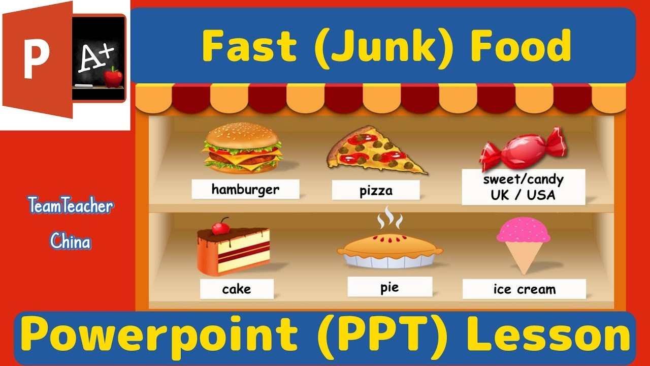 Fast Food Esl Powerpoint Lesson Plan Download Free Ppt From Link