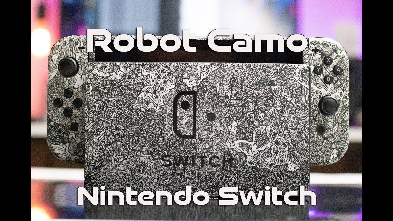 The Nintendo Switch Robot Camo Edition Dbrand Skin Install