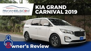 KIA Grand Carnival EX 2019 Owner's Review: Price, Specs & Features | PakWheels