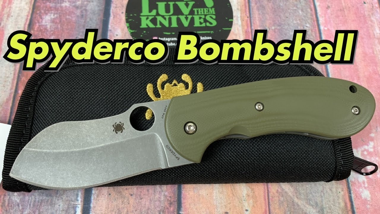 Spyderco Bombshell / includes disassembly/ Flash batch Michael Burch design !