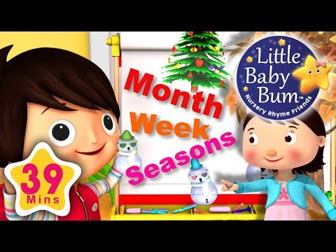 Months Of The Year   Days Of The Week   Four Seasons   39 Minutes of LBB Videos!
