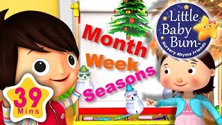 Months Of The Year | Days Of The Week | Four Seasons | 39 Minutes of LBB Videos!