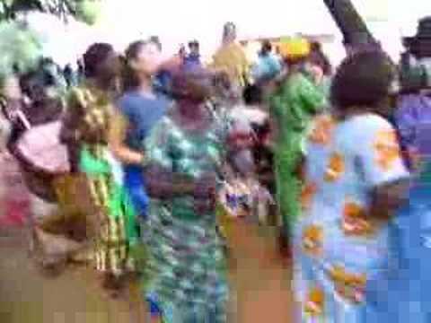 Ghana - dancing Ewe style in Adaklu, Ghana