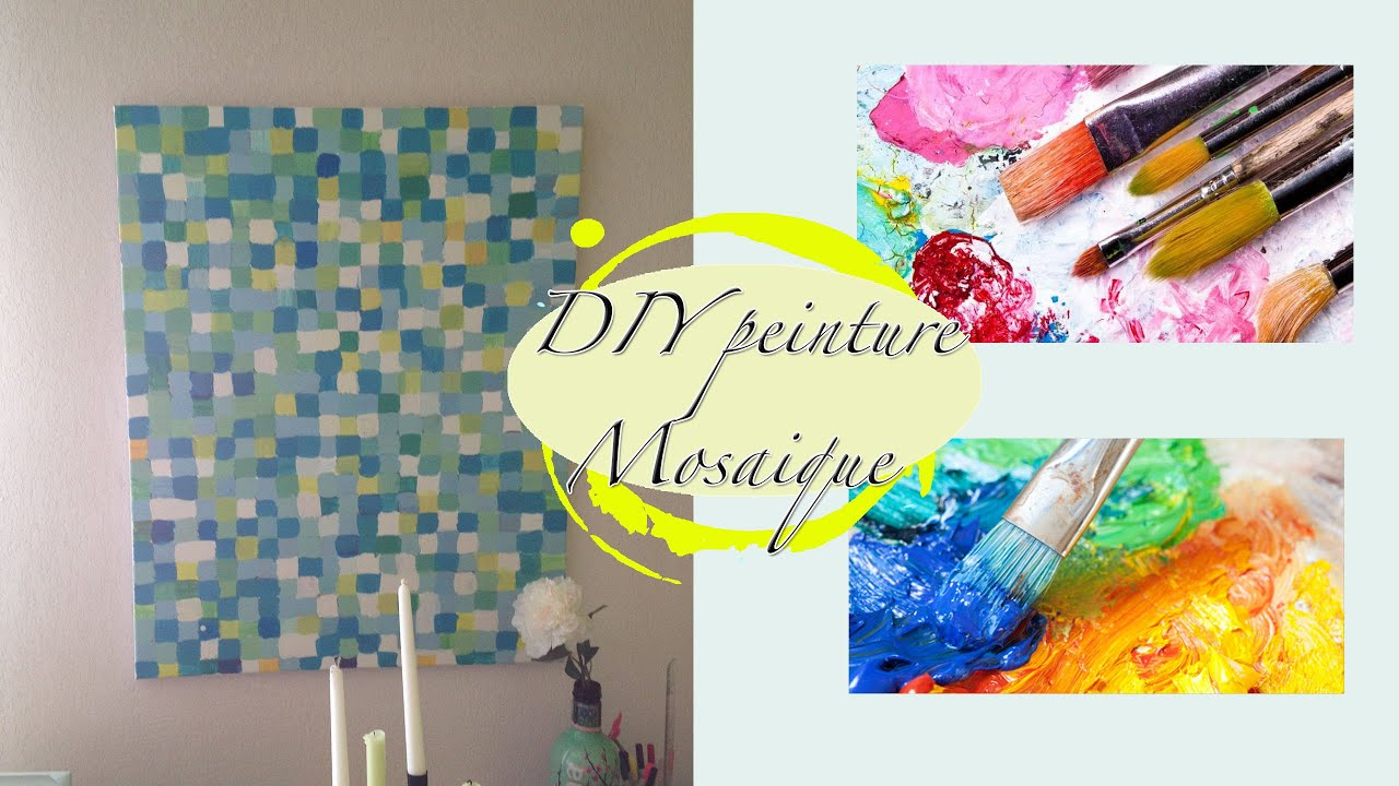 diy d coration murale effet mosa que facile youtube. Black Bedroom Furniture Sets. Home Design Ideas