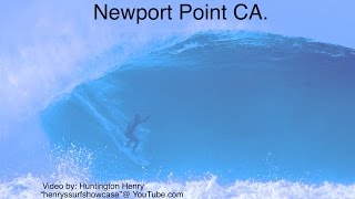 """Newport Point"" CA. 10-18 feet epic!!!! - surfing"
