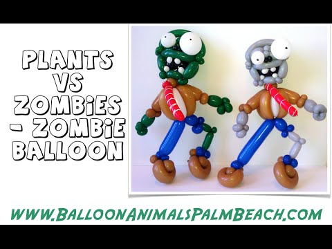 how to make a zombie balloon like plants vs zombies balloon animals palm beach youtube