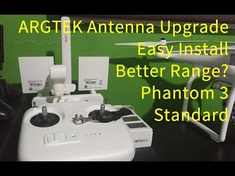 ARGTEK Phantom 3 STANDARD Antenna upgrade Install and does it work?