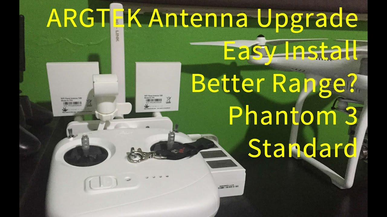 Argtek Phantom 3 Standard Antenna Upgrade Install And Does It Work Dji Drone With One Battery 27k Video Camera White Youtube