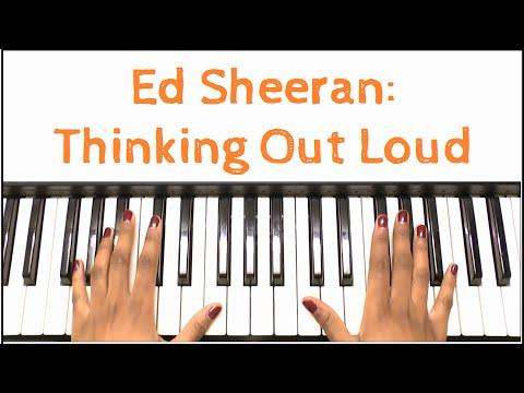 Ed Sheeran - Thinking Out Loud: Piano Tutorial