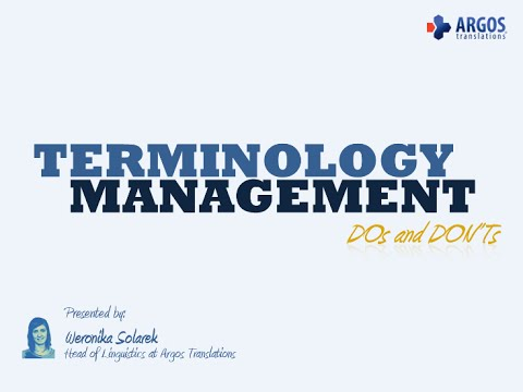 Terminology Management DOs and DON'Ts