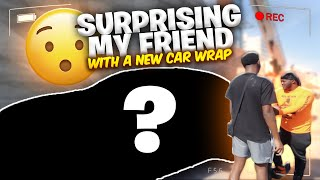 WRAPPING MY BESTFRIEND DUBS CAR WITHOUT HIM KNOWING | BIG SURPRISE TyTheGuy