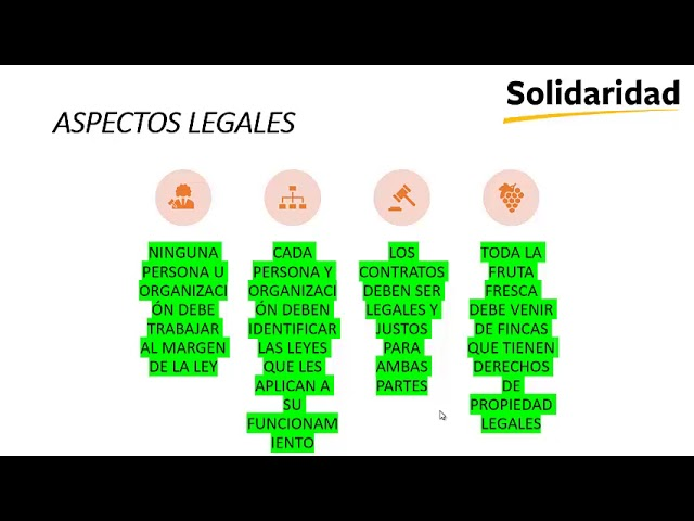 Módulo 1.2: Principios y criterios de la RSPO Cumplimiento de la ley