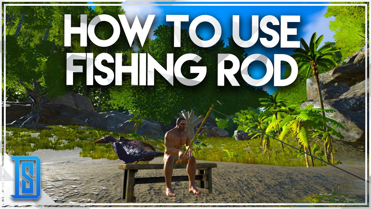 ark survival evolved how to fish using the fishing rod