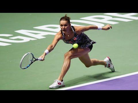 Agnieszka Radwanska vs Karolina Pliskova  | 2016 WTA Finals Singapore Highlights
