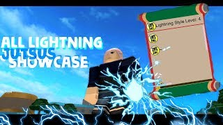 Roblox The Ninja Way | ALL LIGHTNING JUTSUS SHOWCASE!