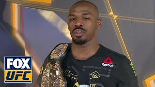 Jon Jones speaks after reclaiming his belt | INTERVIEW | UFC 232