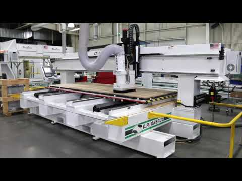Nesting MDF Doors - Cabinetry Machining | C-Series CNC Router  by C.R. Onsrud