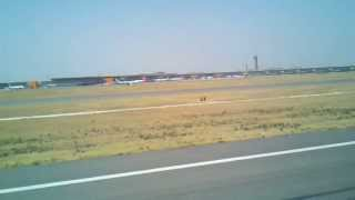 Landing at Indira Gandhi International Airport, Delhi India aboard Air India AI 126