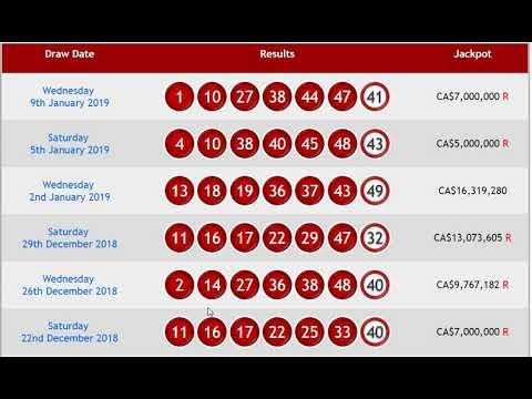 Canada 649 Lottery (1-10-2019 10-07-55 AM)