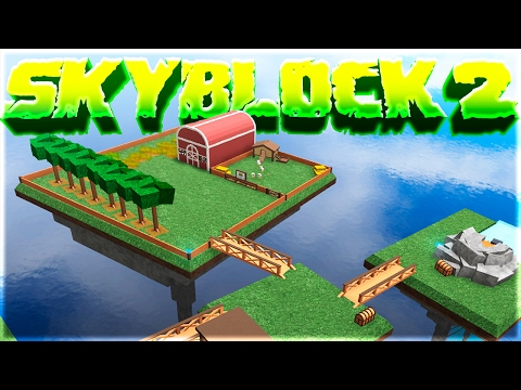 LIVING ON AN ISLAND! - Skyblock 2 in Roblox!