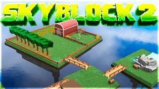 VIVRE SUR UNE ÎLE ! - Skyblock 2 à Roblox!