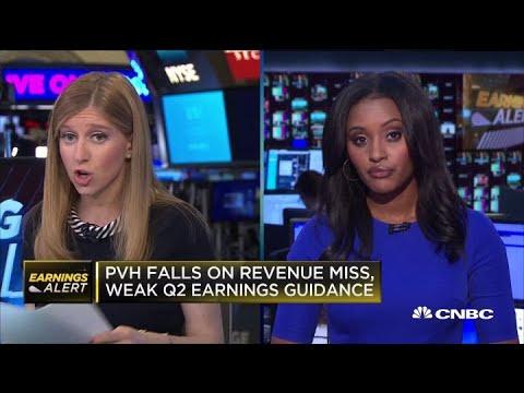 PVH falls on mixed earnings, weak guidance