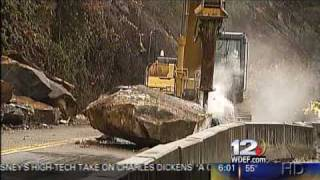 Polk County Tennessee Rockslide Nearly Kills Road Crew