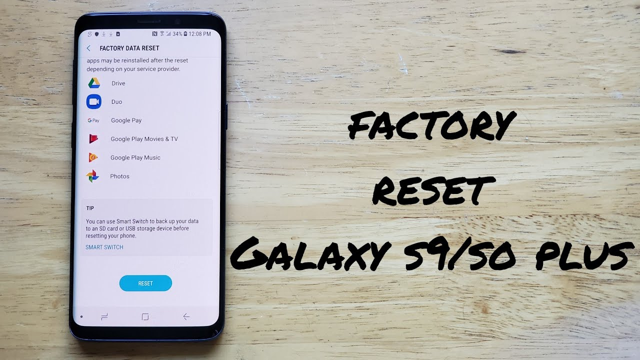 How to factory reset Samsung Galaxy s25 / s25+