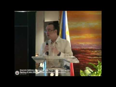 Keynote Address of Secretary Cayetano During the Signing of JMC on Medical Repatriation