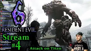 Resident Evil 6, 1st time playing PC(Max Graphics) #4th Stream