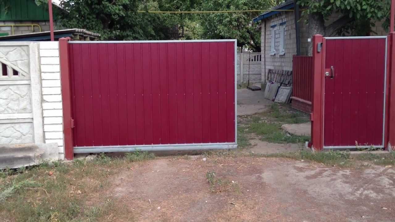 Ворота уличные своими руками фото 379