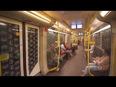 Germany, Berlin, U-Bahn ride from Rathaus Neukölln to Karl-Marx-Straße