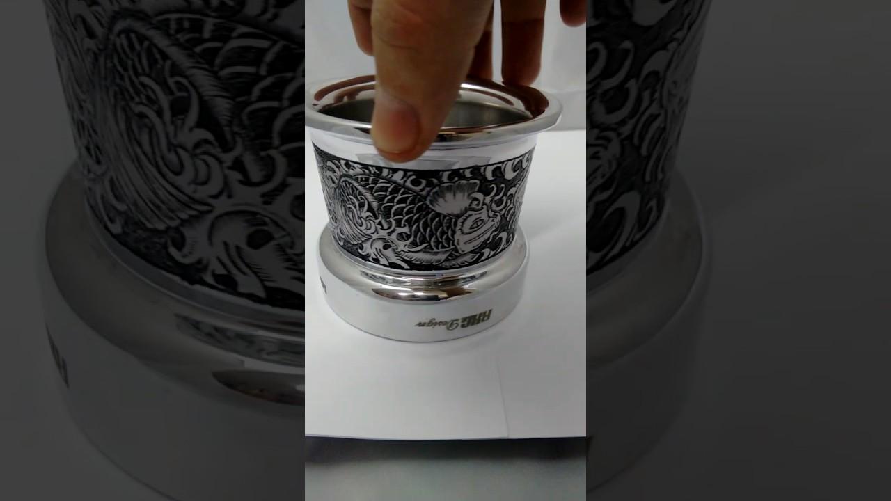Koi & Water Custom Engraved Velocity Stack for Harley Davidson