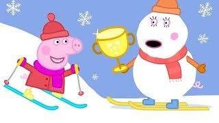 Peppa Pig Full Episodes - Sun, Sea and Snow - Kids Videos