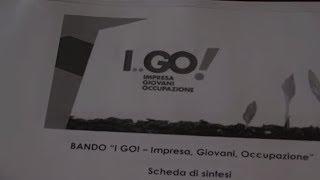"""Parte il progetto """"I GO"""": impresa, giovani, occupazione"""